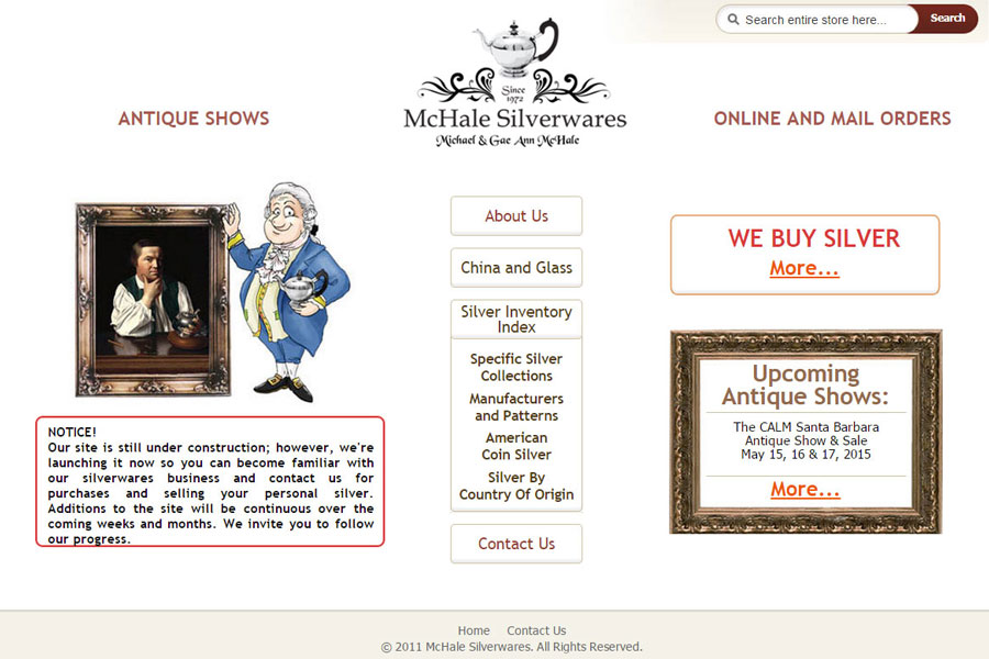 mchalesilverwares.com